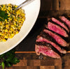 Seasoned Miyazakigyu Wagyu Picanha Steak with Sweet Corn Cous Cous