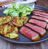 Seared Fullblood Wagyu Strip Steak with Potatoes