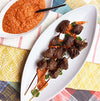 Grilled Wagyu Beef Kabobs with Sauce