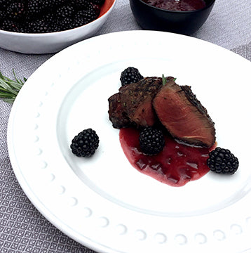 Grilled Wagyu Beef Filet with Blackberry Butter Wine Sauce Recipe