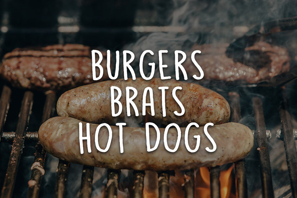Wagyu Beef Burgers, Brats, and Hot Dogs