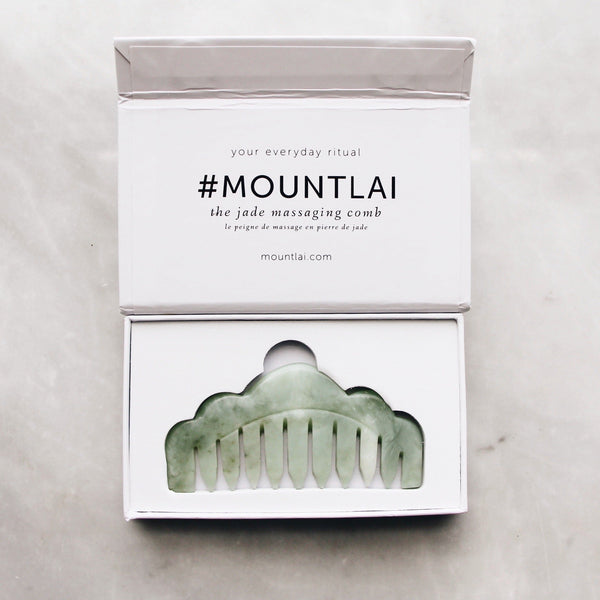 Tools | Mount Lai | Jade Massaging Comb