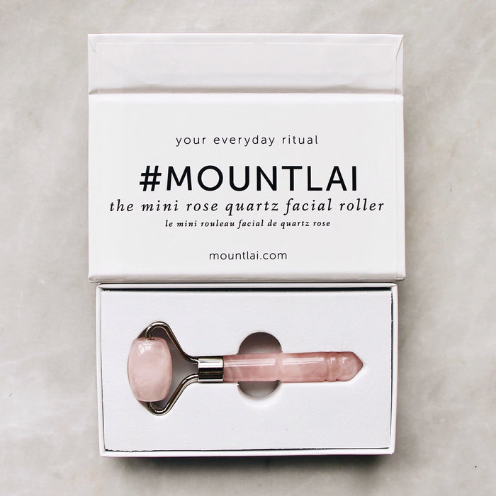 Tools:  Mount Lai | The Mini Rose Quartz Facial Roller