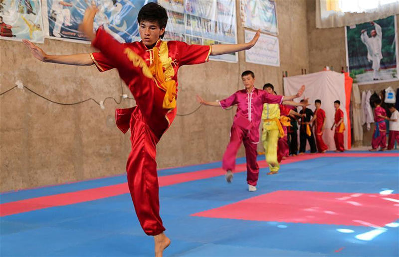 Chinese kung fu club in Afghanistan