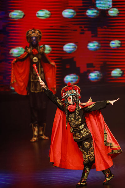 "Artists perform during the ""Cultural China, Splendid Sichuan"" event in Colombo, capital of Sri Lanka, June 4, 2017.  [Photo/Xinhua]"