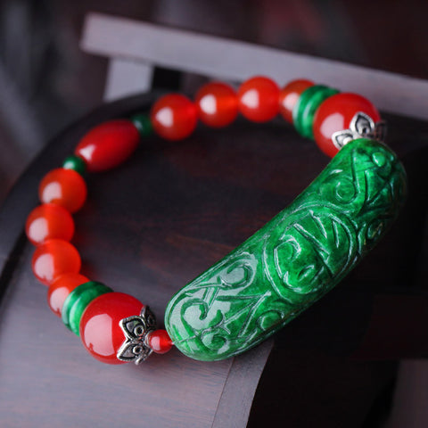 Fashionable original natural red agate bracelet
