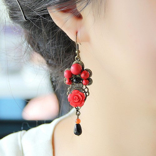 Women Original classical red Drop shaped Earring