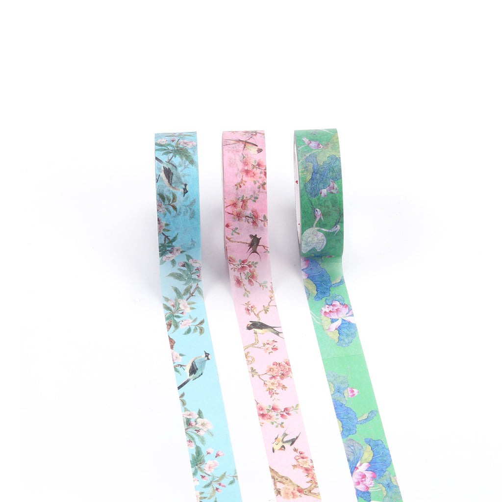 Flowers and Birds Washi Tape - cultureincart.com