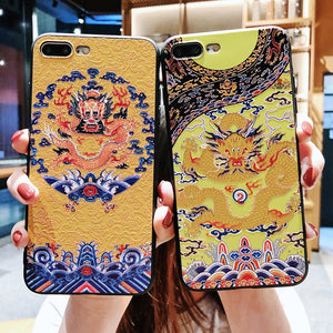 Creative retro-Chinese style phone case for iPhone 6/7/8/6p/7p/8p/x - cultureincart.com