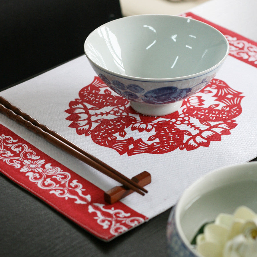 Fashionable handmade cotton and linen placemat