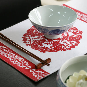 Fashionable handmade cotton and linen placemat - cultureincart.com