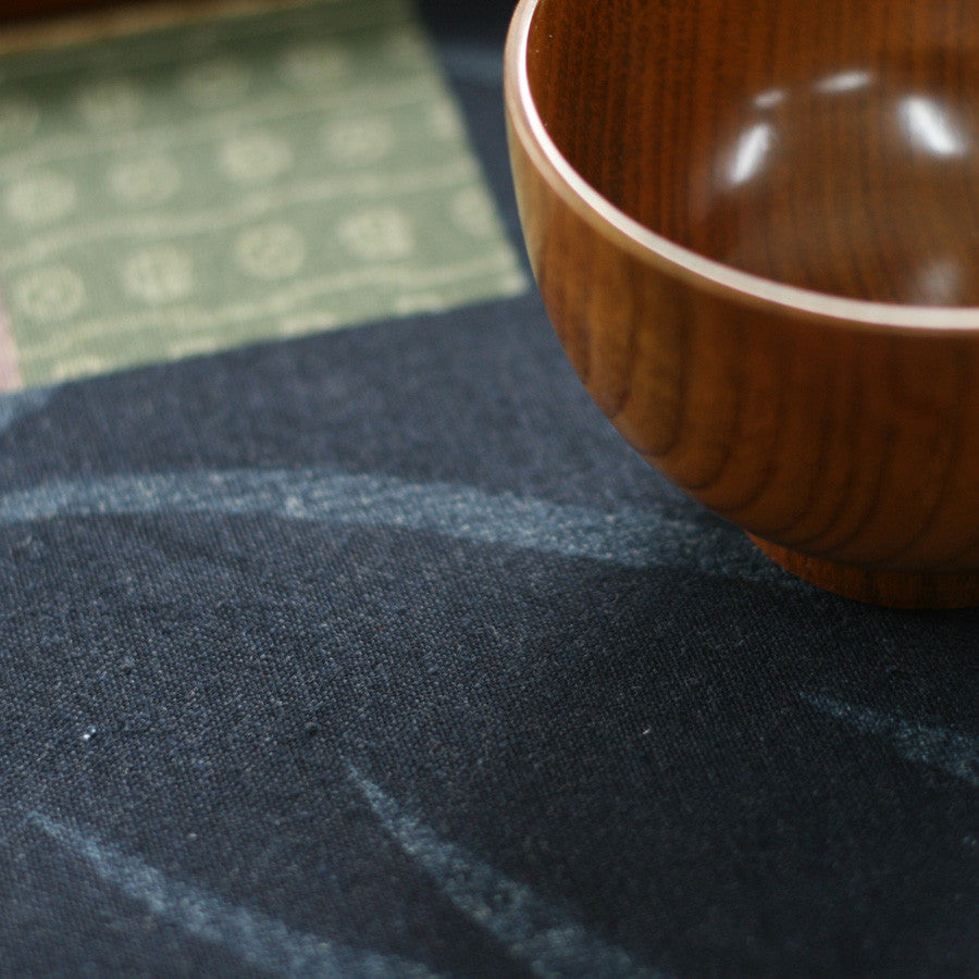 Classical elegant style blue bamboo printed placemat - cultureincart.com
