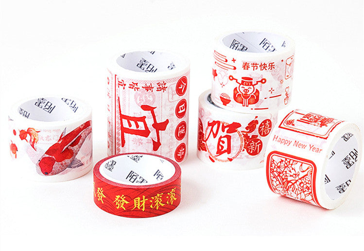Chinese style blessings washi tape - cultureincart.com