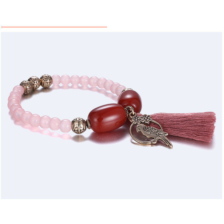 Charming gemstones alloy fashionable ethnic style hand chain - cultureincart.com