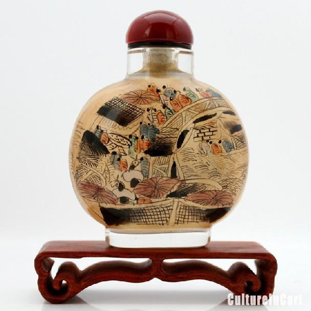 Along the River During the Qingming Festival Painting Snuff Bottle - cultureincart.com