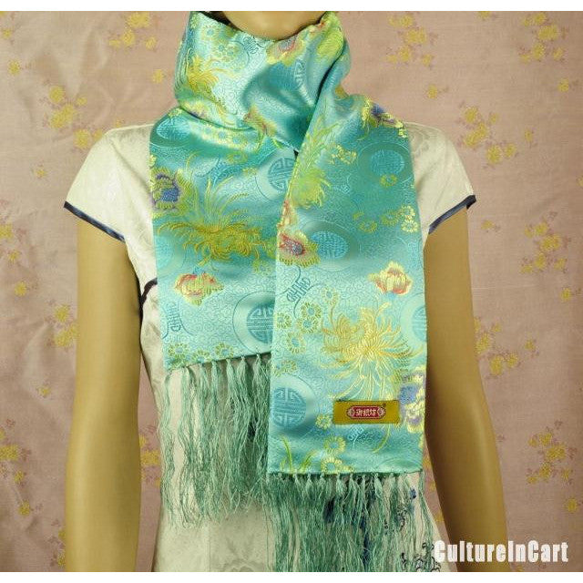 Small Floral NanJing Brocade  Scarf
