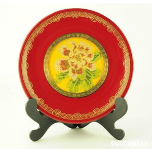 Golden Peony Brocade Decoration - cultureincart.com