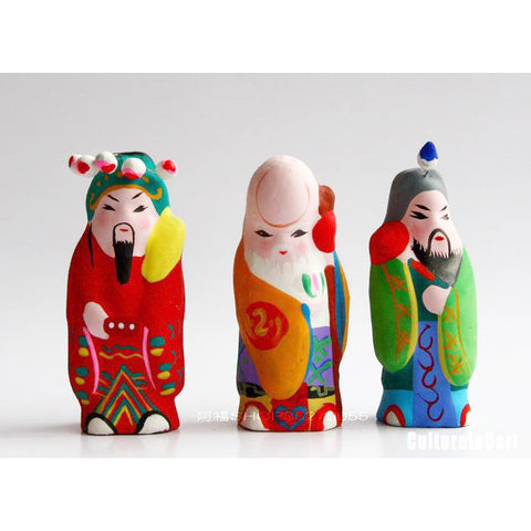 Clay Figurine - Longevity Luck and Wealth
