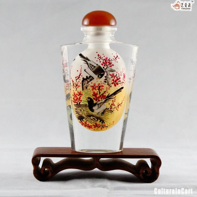 Magpie and Plum Blossom Snuff Bottle