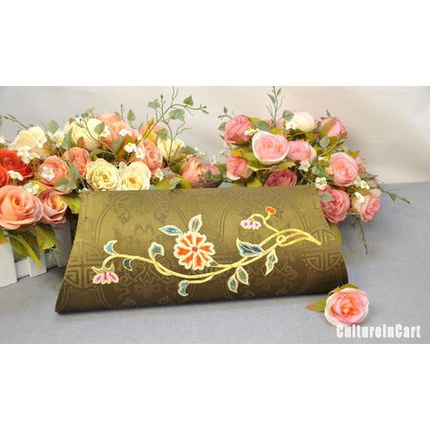 Golden Chrysanthemum Hand Embroidery Handbag