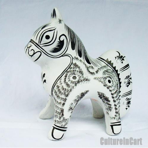 Clay Sculpture Chinese Zodiac Little White Horse