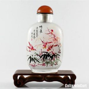 Sparrows Bamboo Inner Painting Snuff Bottle