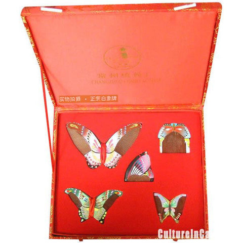 Hand Drawn Butterfly Comb Suite