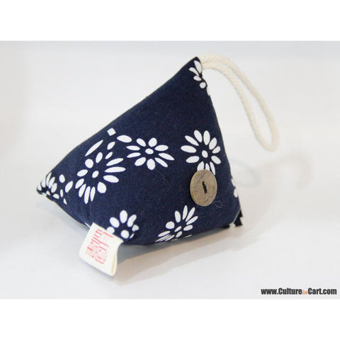Blue Calico Rhombus Lotus Zongzi Little Sachet
