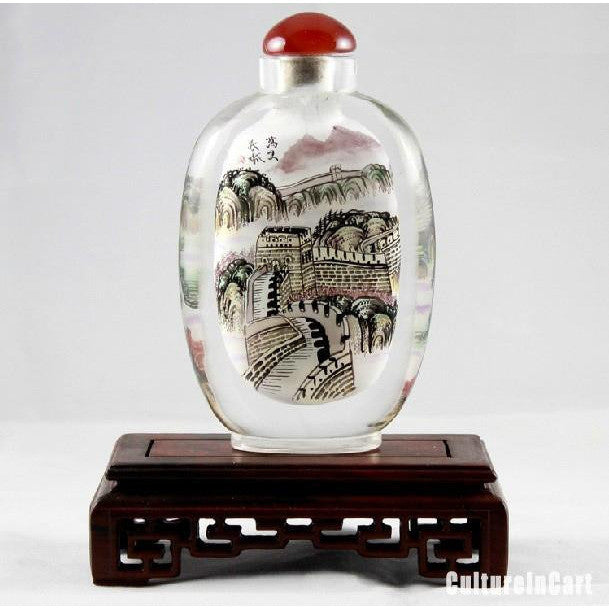 Exquisite Great Wall Chinese Painting Snuff Bottle