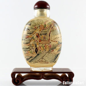 Along the River During the Qingming Festival Chinese Painting Snuff Bottle - cultureincart.com