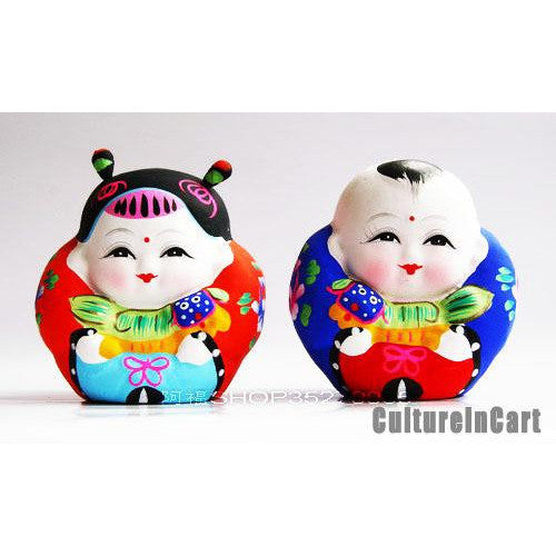 Clay Figurine - Fuwa and Lion