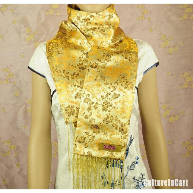 Embroidered Brocade Scarf