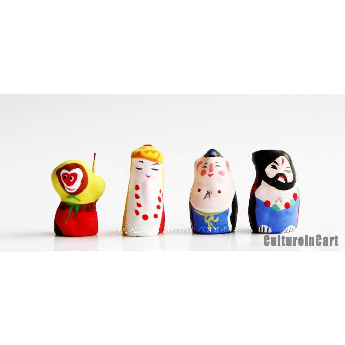 Mini Journey to the West Clay Figurine Suite