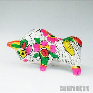 Clay Sculpture Chinese Zodiac Large Coloured Cattle - cultureincart.com