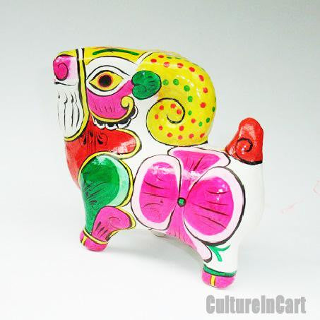 Clay Sculpture Chinese Zodiac Multicolour Goat