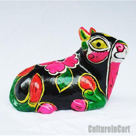 Clay Sculpture Chinese Zodiac Multicolour Cow