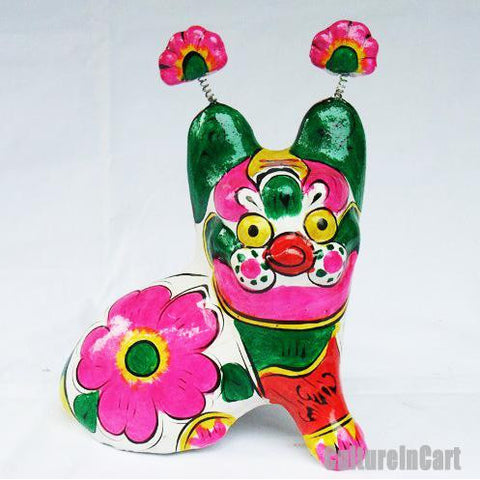 Clay Sculpture Chinese Zodiac Little Coloured Tiger