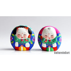 Clay Figurine - Mini Fuwa and Lion - cultureincart.com