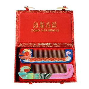ChangZhou Comb Dragon and Phoenix Gift Set - cultureincart.com
