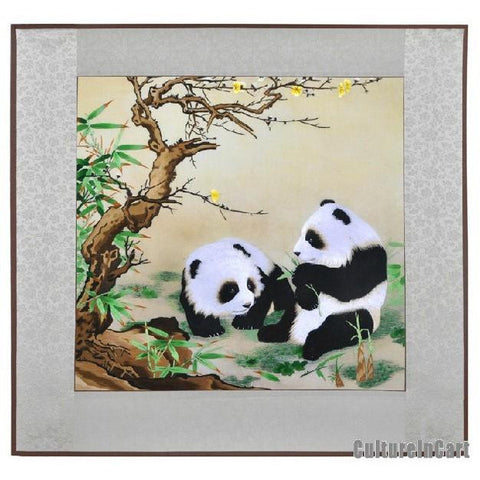 Hand Embroidery Panda Decorative Painting