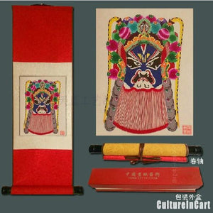 BeiJing Opera Masks Paper Cutting Scroll Painting 1 - cultureincart.com