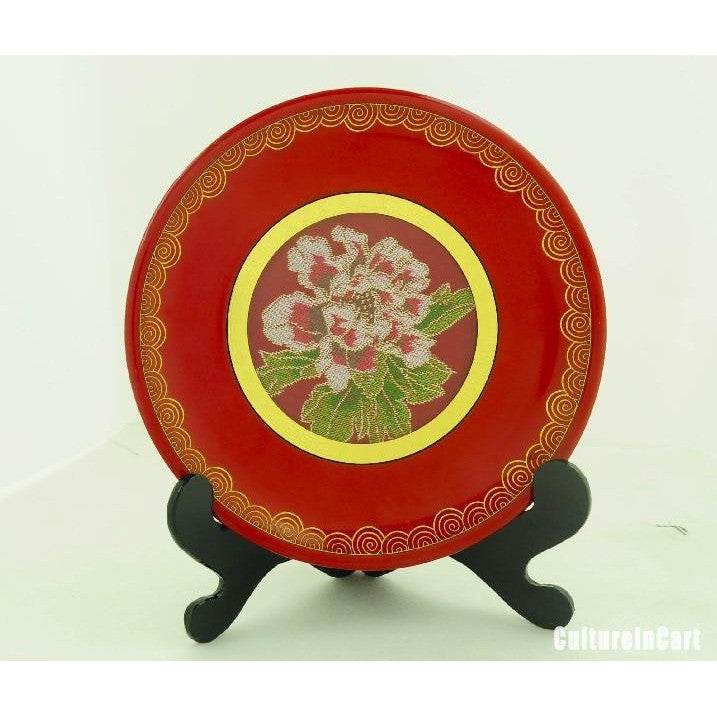Red Peony Brocade Decoration