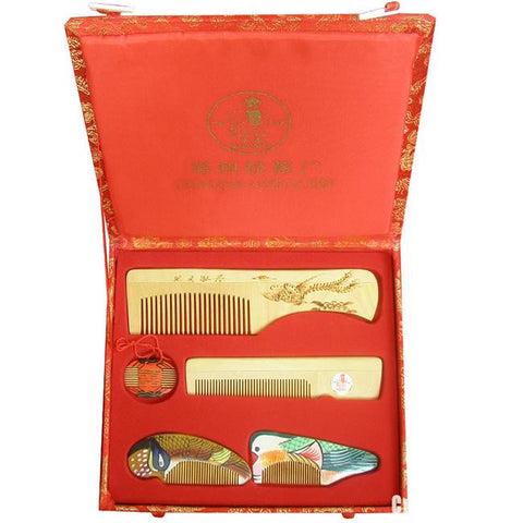 Mandarin Duck Comb Five-Piece Set