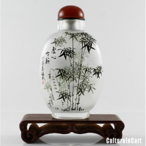 Bamboo Chinese Painting Snuff Bottle