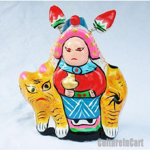 Clay Sculpture Chinese Zodiac Baby and Tiger - cultureincart.com