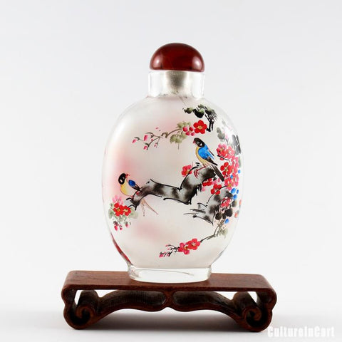 Birds and Plum Blossom Snuff Bottle