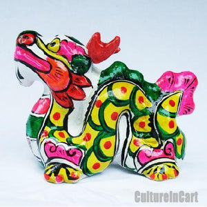 Clay Sculpture Chinese Zodiac Multicolour Dragon - cultureincart.com