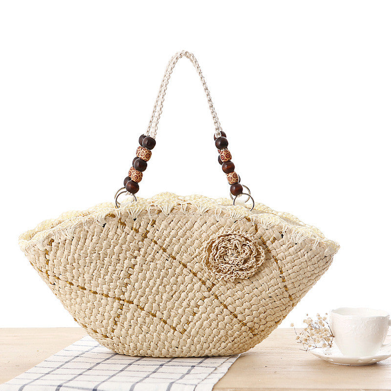 Casual multicolored sling hand knitting bag
