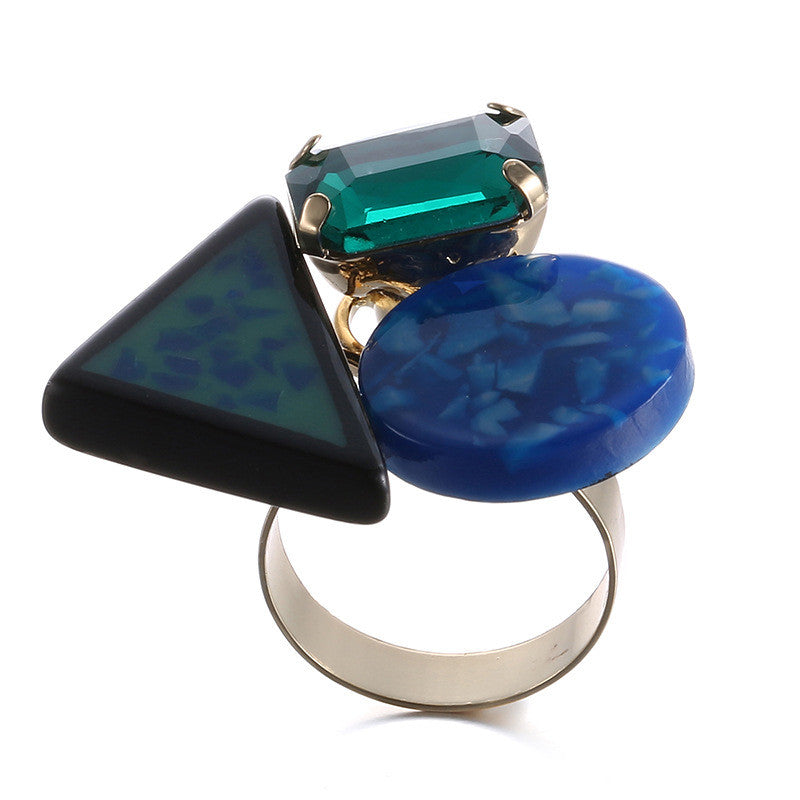 Colorful resin punk style ring - cultureincart.com