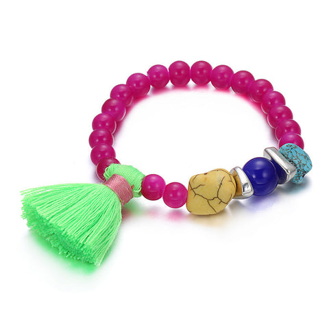 Candy color multicolored bead fashionable hand chain